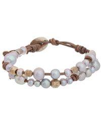 Chan Luu Silver 4-8mmmm Pearl Bracelet - Metallic