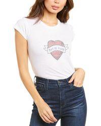 Zadig & Voltaire Skinny Strass T-shirt - White