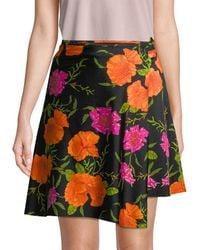 Balenciaga Floral Wrap Skirt - Black