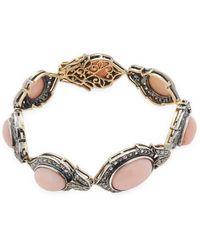 Amrapali - 14k Gold And Sterling Silver Opal And Diamond Bracelet - Lyst