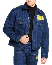 Helmut Lang Masc Big Trucker Jacket - Blue
