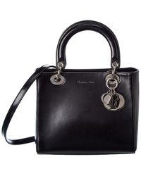 Dior Black Patent Leather Small Lady
