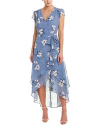 ABS Collection Wrap Dress - Blue