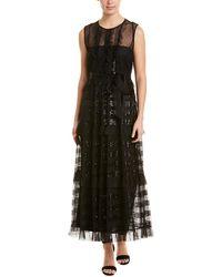 RED Valentino Sequin Maxi Dress - Black