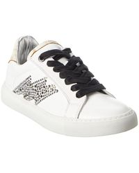 Zadig & Voltaire Zv1747 Leather Trainer - White