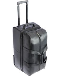 Royce - Rolling Duffel Bag Luggage In Pebbled Leather - Lyst