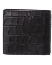 Alexander McQueen Croc-embossed Leather Card Holder - Black