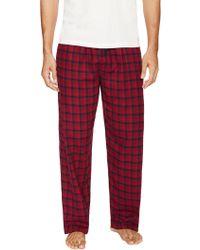 Ben Sherman Plaid Brushed Flannel Pyjama Pant - Red