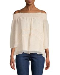 Rebecca Minkoff Tie-accented Blouse - Natural