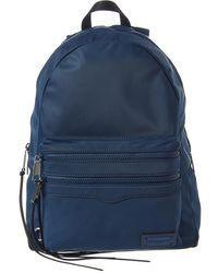 Rebecca Minkoff Large Two Zip Nylon Backpack - Blue