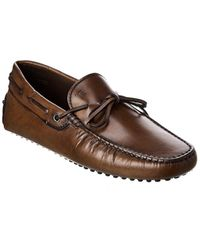 Tod's Tod?s Gommini Leather Driver - Brown