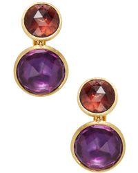 Marco Bicego   Jaipur Pink Tourmaline & Amethyst Earrings   Lyst