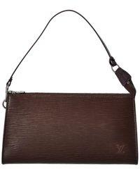 Louis Vuitton Brown Epi Leather Pochette Accessoires