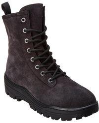Yeezy Season 6 Suede Combat Boot - Gray