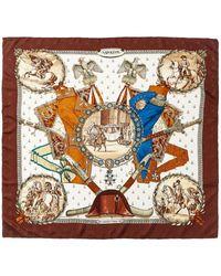 "Hermès ""napoleon,"" By Philippe Ledoux Silk Scarf - Brown"