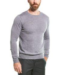 Armani Maglia Wool Crewneck Sweater - Gray