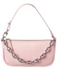 BY FAR Rachel Mini Leather Clutch - Pink