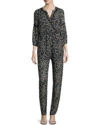 Anna Sui   Silk Printed Jumpsuit   Lyst
