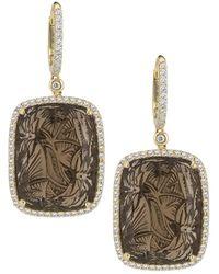 Dana Rebecca - Designs Courtney Lauren 14k 65.13 Ct. Tw. Diamond & Smoky Quartz Drop Earrings - Lyst