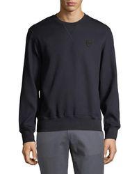 Alexander McQueen Woven Sweatshirt - Blue
