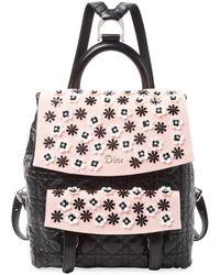 Dior Embellished Leather Backpack - Black
