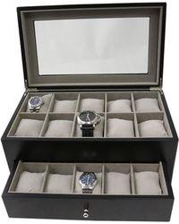 Bey-berk - Matte Black Wood Watch Case - Lyst