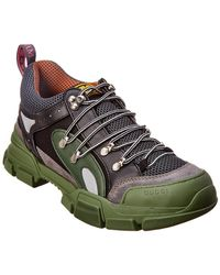 Gucci Flashtrek Leather & Mesh Sneaker - Green