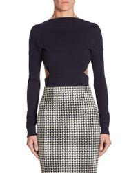 Victoria Beckham - Backless Wool Bodysuit - Lyst