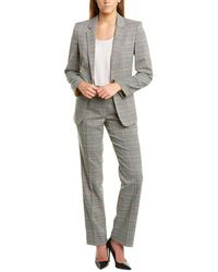 Tahari Tahari Asl 2pc Pant Suit - Gray