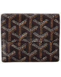Goyard Black Ine Canvas Coin Purse Wallet