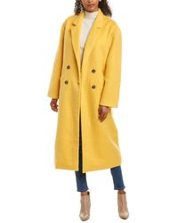 Cinq À Sept Maya Mohair-blend Coat - Yellow