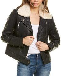 Marc New York Pebbled Leather Jacket - Black