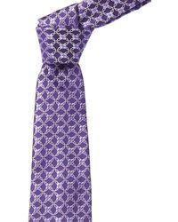Ike Behar Purple Swirl Silk Tie