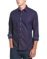 Robert Graham Cross Ridge Classic Fit Woven Shirt - Blue