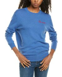 Zadig & Voltaire Life Mini Wool & Cashmere-blend Sweater - Blue