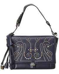 Zadig & Voltaire Optimiste Clouse Leather Shoulder Bag - Blue