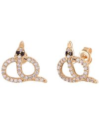 Gabi Rielle - Gold Over Silver Cz Earrings - Lyst