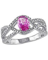 Rina Limor 10k 1.15 Ct. Tw. Diamond & Pink Sapphire Ring