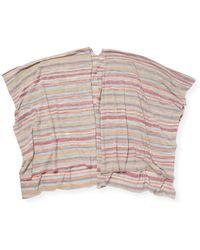 White + Warren - Stripe Topper - Lyst