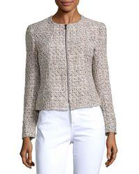 Jones New York - Textured Zip-front Jacket - Lyst