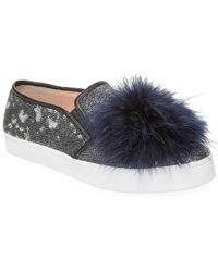 Kate Spade - Latisa Feather Pom Pom Sneaker - Lyst