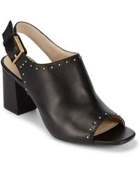 CALVIN KLEIN 205W39NYC - Crey Leather Open-toe Court Shoes - Lyst