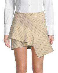 Isabel Marant Stripe Ruffle Mini Skirt - Natural