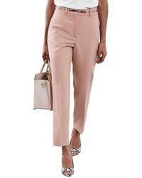 Reiss Lilli Wool-blend Pant - Pink