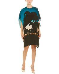 Akris Silk Shift Dress - Blue