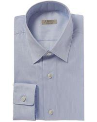 Ermenegildo Zegna Z Zegna Slim Fit Dress Shirt - Blue