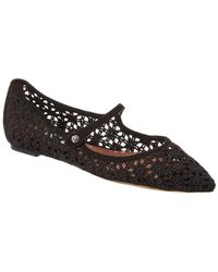 Tabitha Simmons Hermione Lace Flat - Black