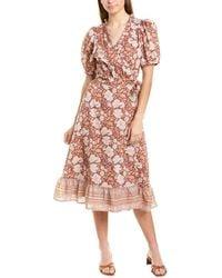Cleobella Lucia Wrap Dress - Brown