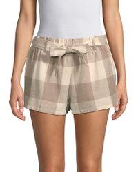 Lucca Couture Catalina Paper Bag Shorts - Natural