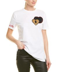 Fendi Silk-trim T-shirt - White